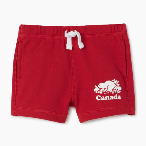 Roots-Kids Baby-Baby Canada Short-Sage Red-A