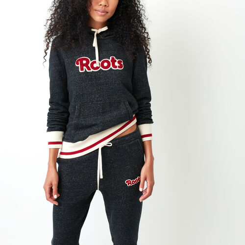Roots-New For October Sweats-Roots Cabin Cozy Hoody-Black Pepper-A