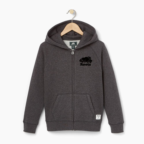 Roots-Winter Sale Kids-Boys Original Full Zip Hoody-Charcoal Mix-A