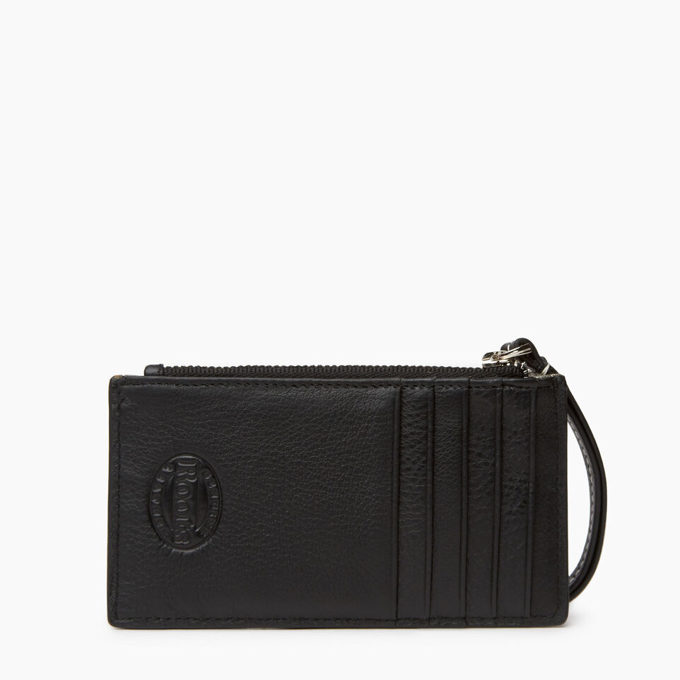 Roots-Leather Small Leather Goods-Medium Card Wristlet-Black-B