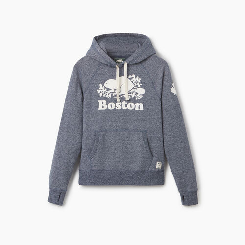 Roots-New For September City Collection-Boston Kanga Hoody - Womens-Blue Iris Pepper-A