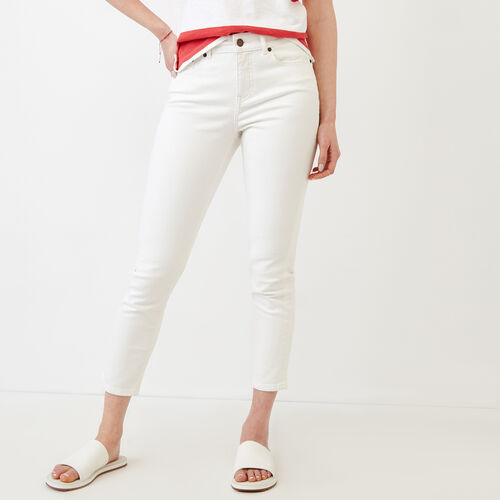 Roots-Women Pants-Cropped Stretch Riley Jean-White-A
