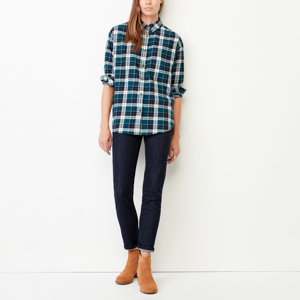 Roots-Women Our Favourite New Arrivals-Alaina Boyfriend Shirt-Shaded Spruce-B