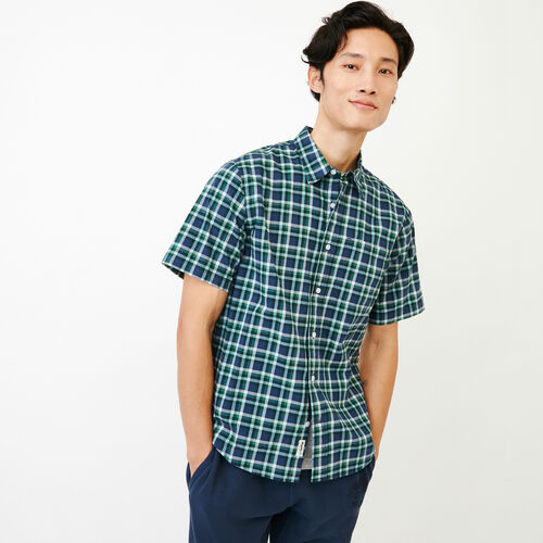 Roots-Men Shirts & Polos-Templeton Plaid Shirt-Sargasso Sea-A