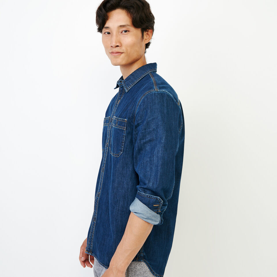 Roots-Men Our Favourite New Arrivals-Denim Work Shirt-Vintage Wash-C