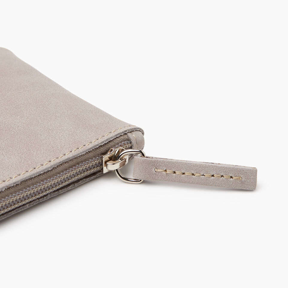 Roots-Leather Leather Accessories-Medium Zip Pouch-Sterling Grey-E