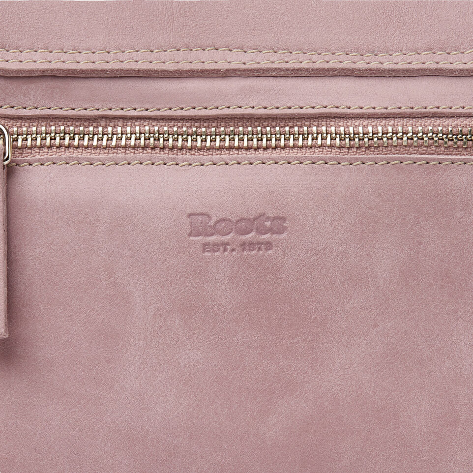 Roots-Leather New Arrivals-Canmore Crossbody Tribe-Woodrose-E