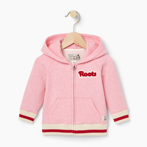 Roots-Kids Baby-Baby Cabin Full Zip Hoody-Sea Pink Mix-A