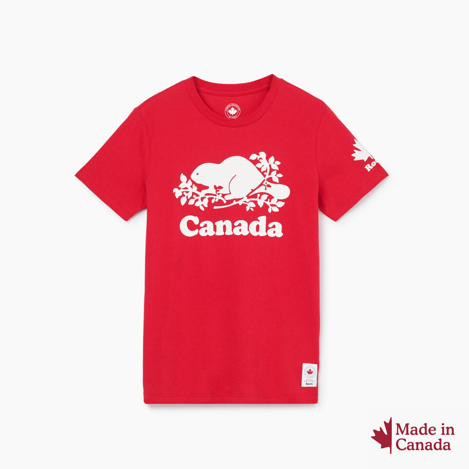 Roots-New For July Women-Womens Cooper Canada T-shirt-Sage Red-A