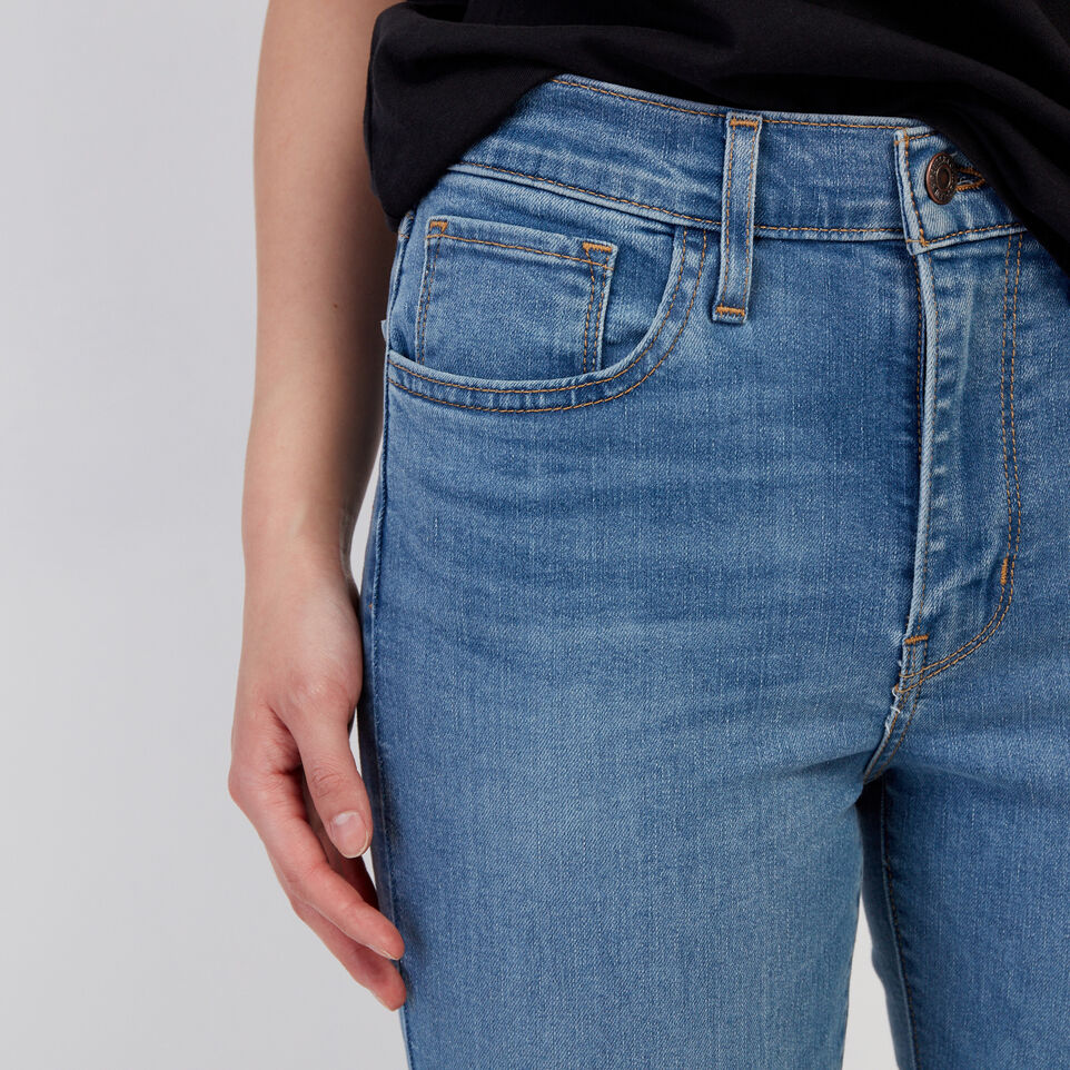 Roots-Women Clothing-Levi's 724 Hi rise Straight Crop Jean-Med Denim Blue-E