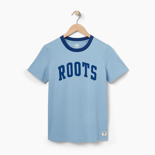 Roots-Sale Women-Womens Ferryland T-shirt-Dusk Blue-A