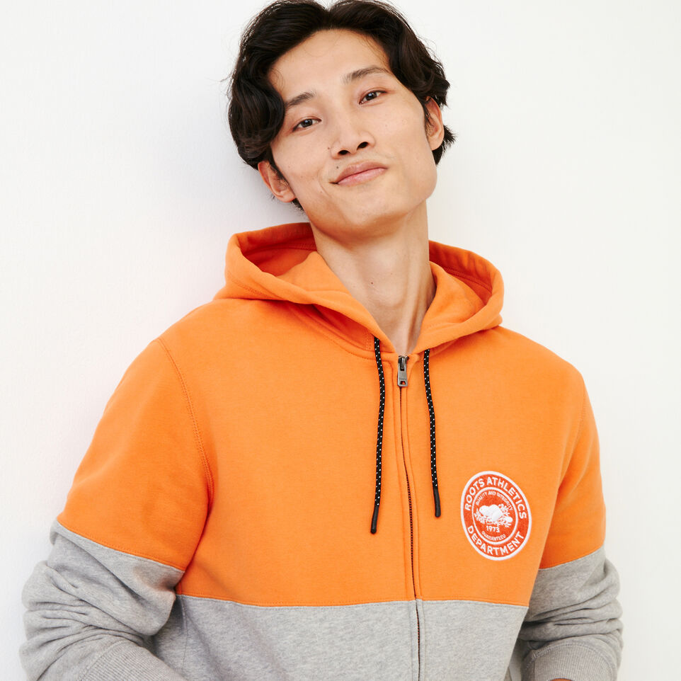 Roots-Men Our Favourite New Arrivals-Athletic Dept. Zip Hoody-Grey Mix-D