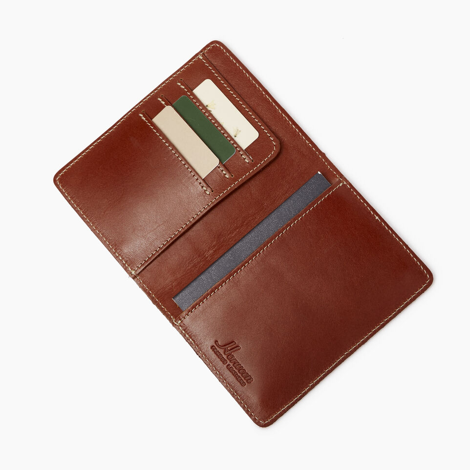 Roots-Leather  Handcrafted By Us Our Favourite New Arrivals-Horween Passport Wallet-Cognac-B