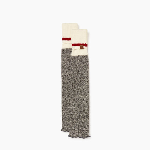 Roots-Women Socks-Roots Cabin Leg Warmer-Grey Oat Mix-A