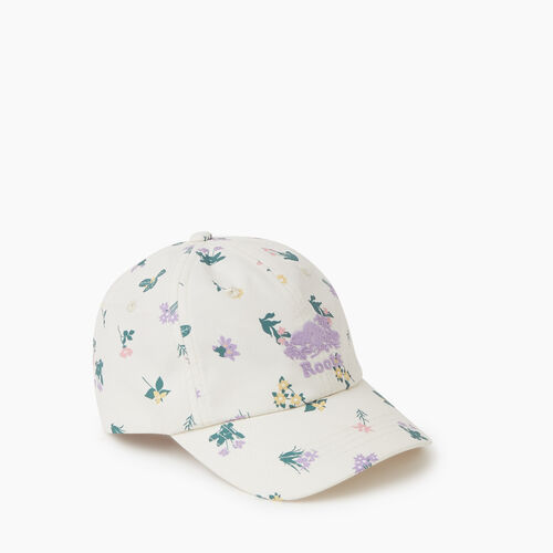 Roots-Kids Accessories-Kids Botanical Baseball Cap-Multi-A