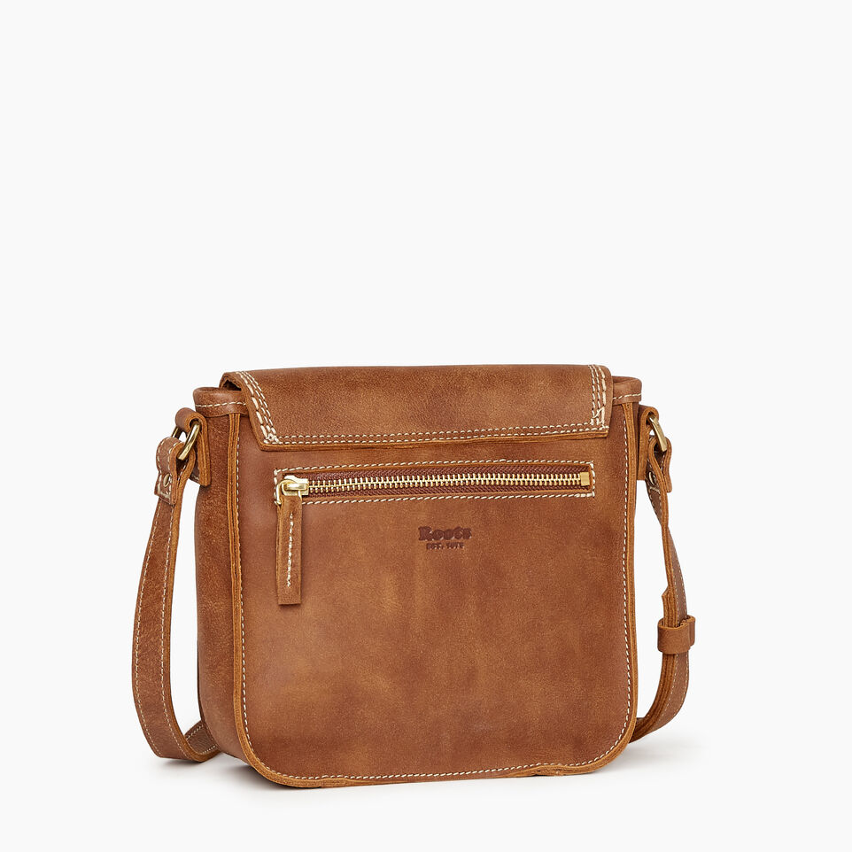 Roots-Leather Handbags-Canmore Crossbody Tribe-Natural-C