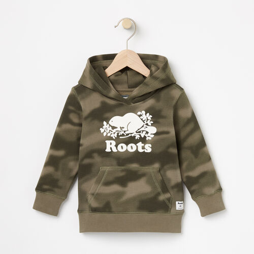 Roots-Kids Tops-Toddler Blurred Camo Kanga Hoody-Dusty Olive-A