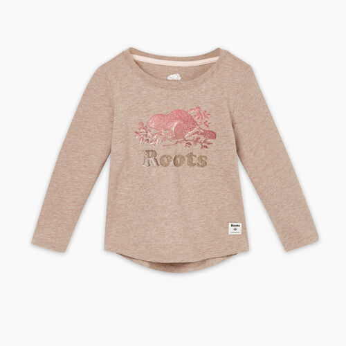 Roots-Kids T-shirts-Toddler Original Cooper Beaver T-shirt-Cinder-A