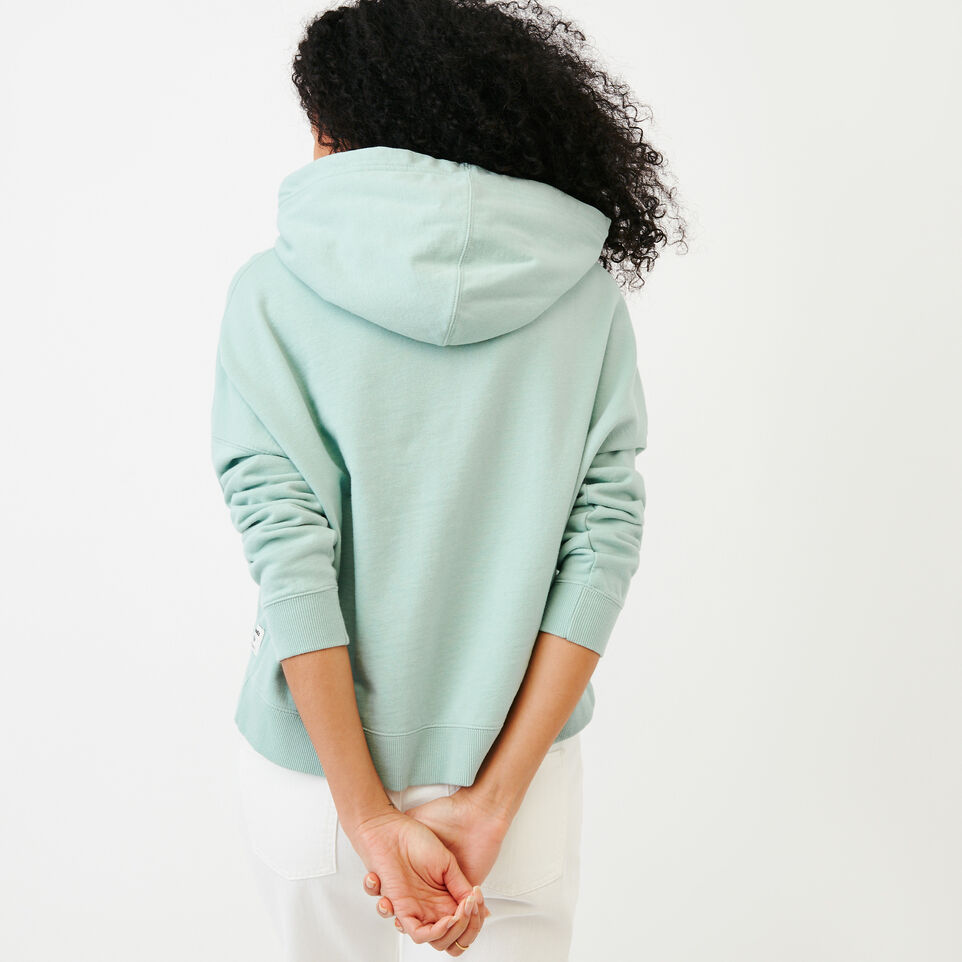 Roots-Women Our Favourite New Arrivals-Melange Terry Hoody-Aquifer-D