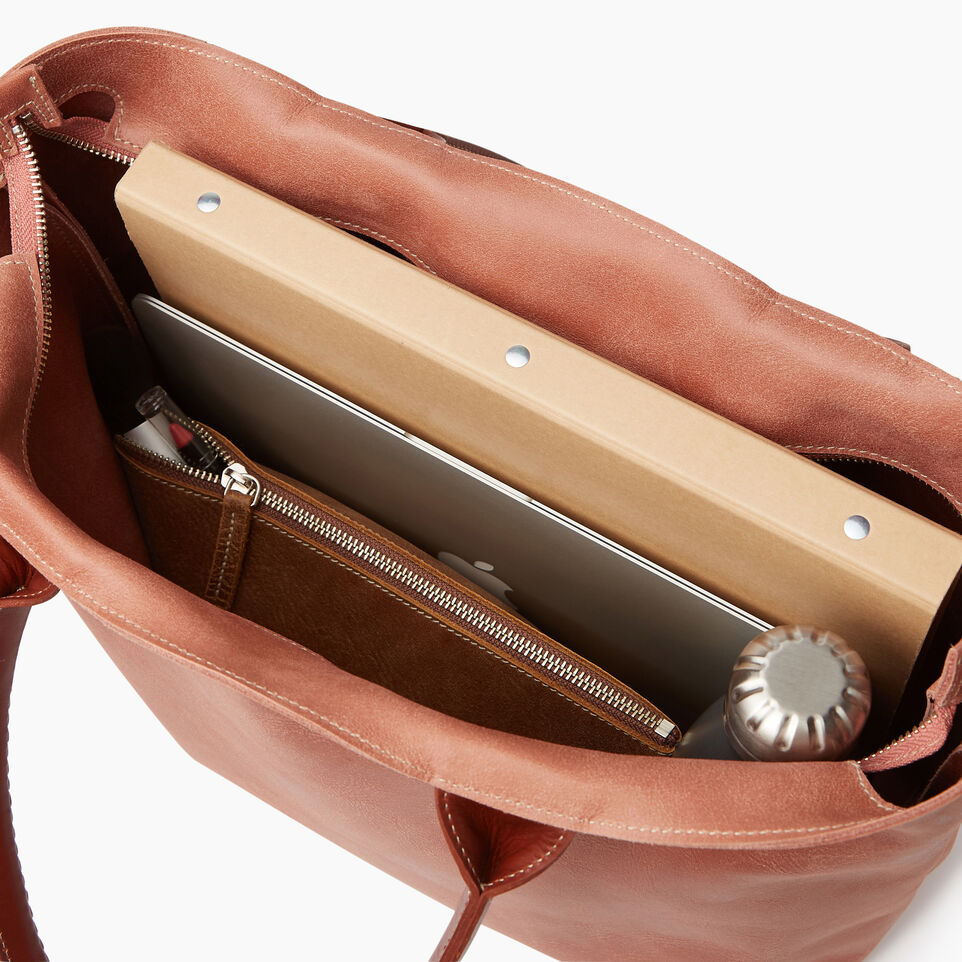 Roots-Leather Our Favourite New Arrivals-Mont Royal Tote-Canyon Rose/oak-D