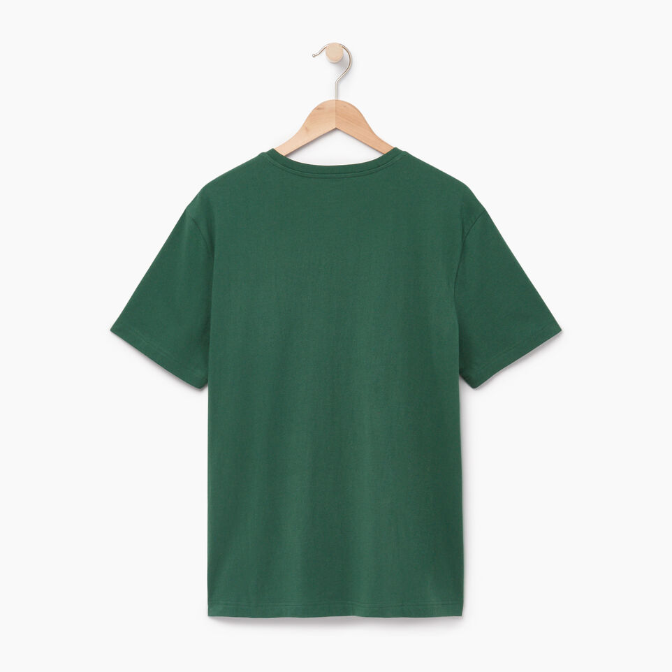 Roots-New For July Men-Mens Roots Outdoors T-shirt-Hunter Green-B
