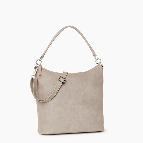 Roots-Leather  Handcrafted By Us Handbags-Ella Bag-Sterling Grey-A