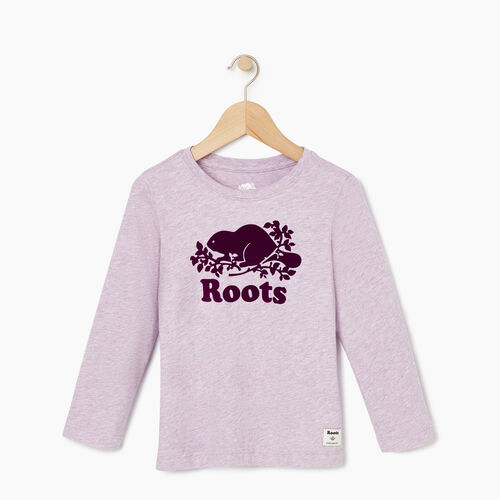 Roots-Kids Our Favourite New Arrivals-Toddler Original Cooper Beaver T-shirt-Lupine Mix-A