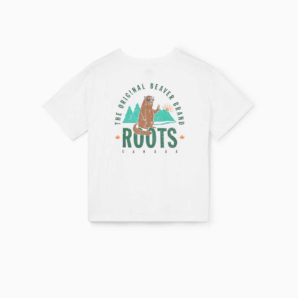 Roots-undefined-Womens Original Beaver T-shirt-undefined-B