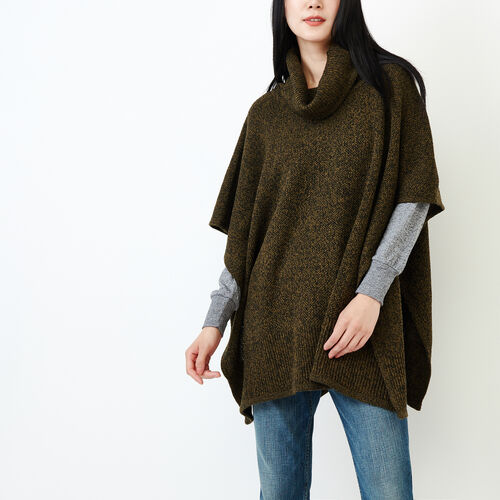Roots-Women Our Favourite New Arrivals-Nahanni Poncho-Loden Pepper-A