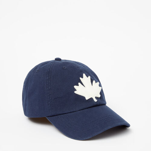 Roots-Women Accessories-Canada Leaf Baseball Cap-Cascade Blue-A