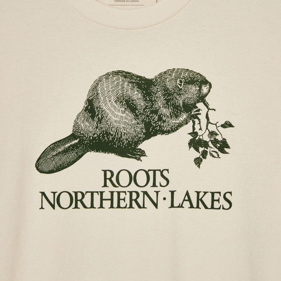 Roots-undefined-Mens Cooper Heather Beaver T-shirt-undefined-D