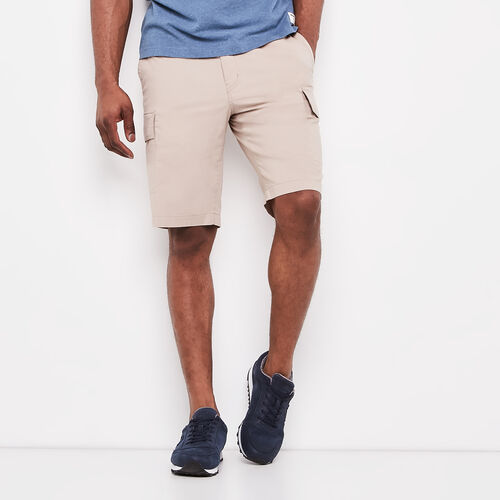 Roots-Men Shorts-Essential Cargo Short-True Khaki-A