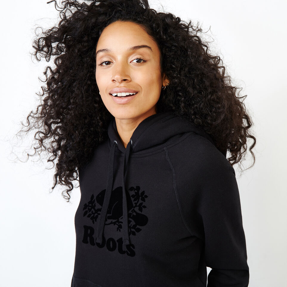 Roots-Women Our Favourite New Arrivals-Original Kanga Hoody-Black-E