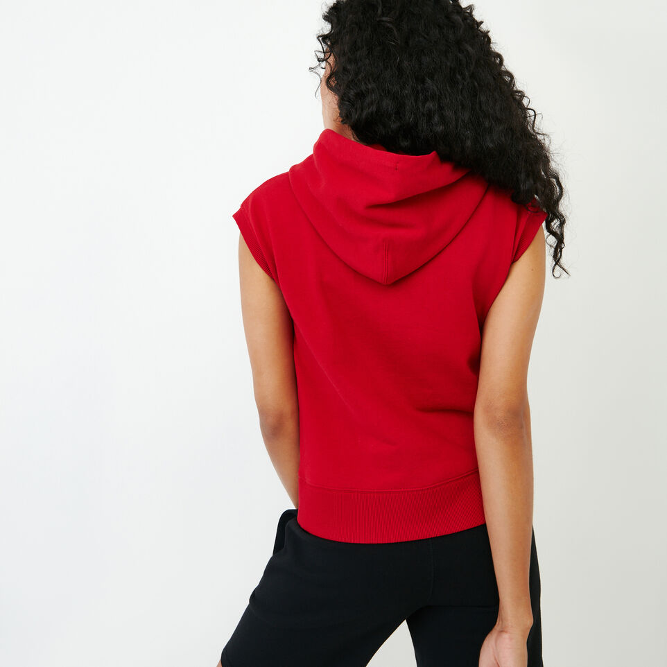 Roots-Women Our Favourite New Arrivals-Tyne Sleeveless Hoody-Sage Red-D