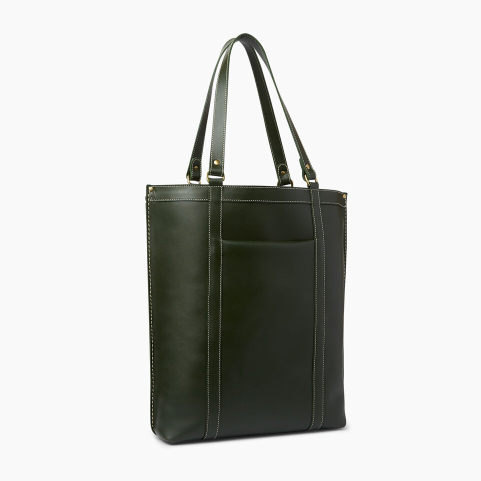 Roots-Winter Sale Leather-Market Tote Heritage-Hunter Green-A