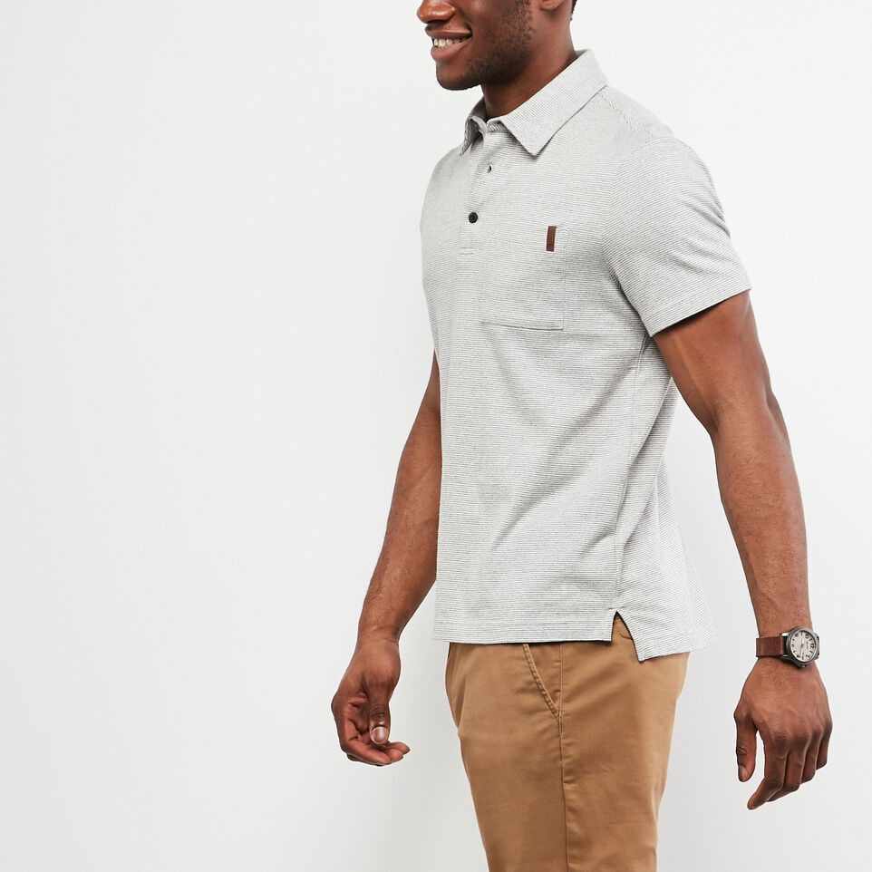 Roots-undefined-Polo En Jersey Cèdre Rayé-undefined-B