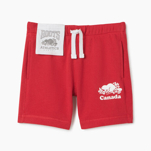 Roots-Kids New Arrivals-Girls Canada Short-Sage Red-A