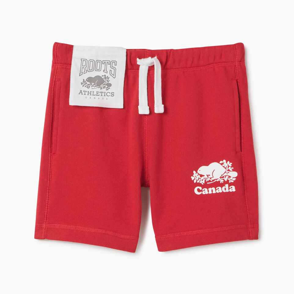 Roots-Kids Canada Collection-Girls Canada Short-Sage Red-A