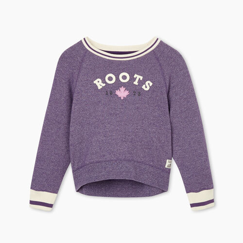 Roots-Kids Girls-Girls Cabin Cozy Crew Sweatshirt-Loganberry Pepper-A