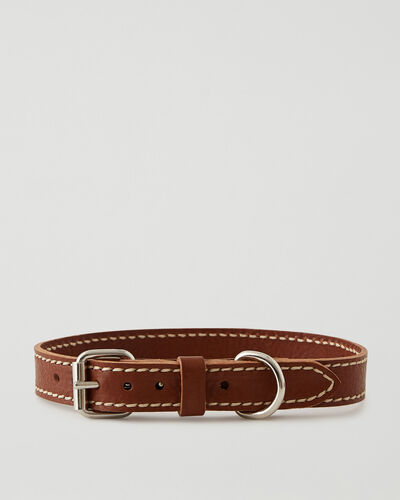 Roots-Leather Dog Accessories-Large Dog Collar Veg-Mahogany-A