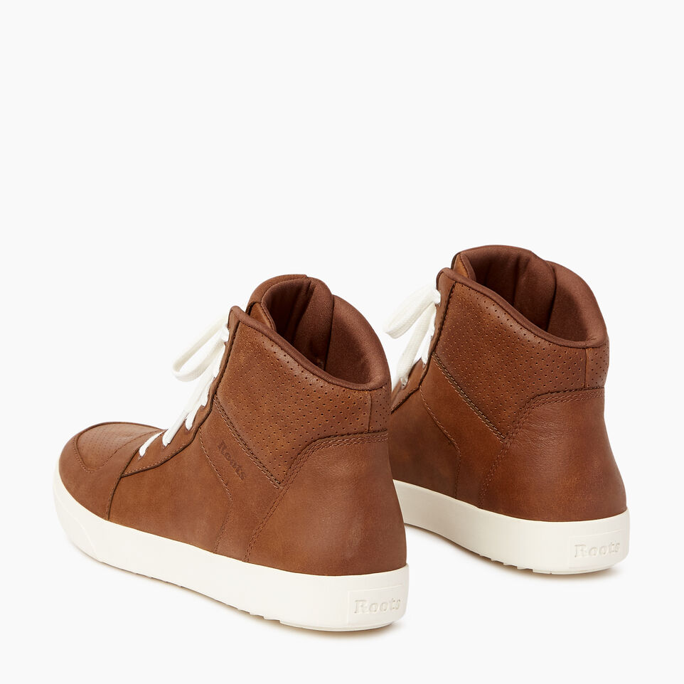 Roots-Footwear Men's Footwear-Mens Ossington Hightop-Natural-E
