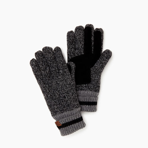 Roots-Women Categories-Womens Roots Cabin Glove-Black Mix-A