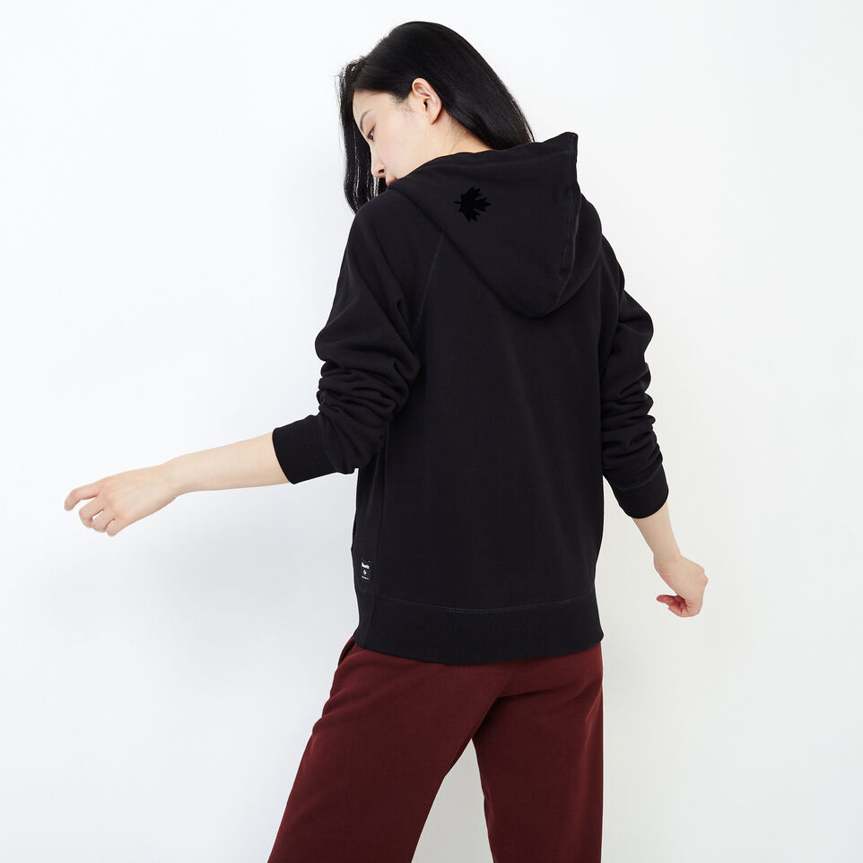 Roots-Women New Arrivals-Original Full Zip Hoody-Black-D