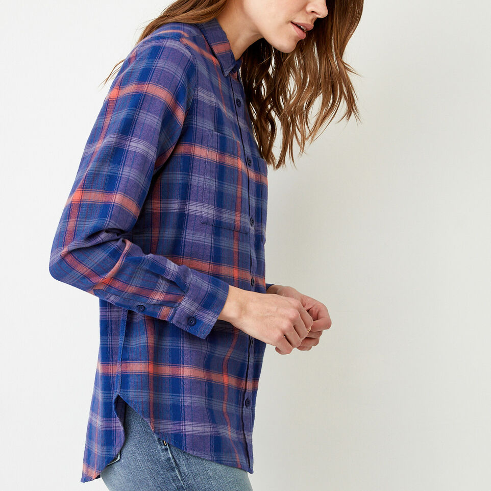Roots-Women Our Favourite New Arrivals-Nora Flannel Shirt-Dark Lilas-C