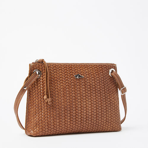 Roots-Women Crossbody-Edie Bag Woven Tribe-Natural-A