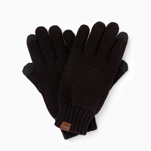 Roots-Clearance Men-Touchscreen Glove-Black-A