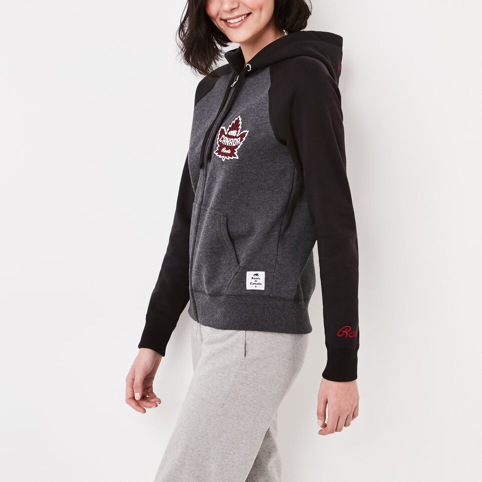 Roots-undefined-Womens Heritage Canada Full Zip Hoody-undefined-D