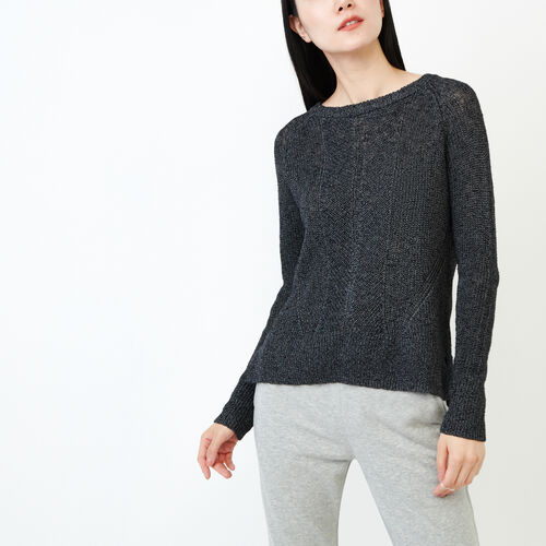 Roots-Women Sweaters & Cardigans-Snowy Fox Sweater-Black Fox-A
