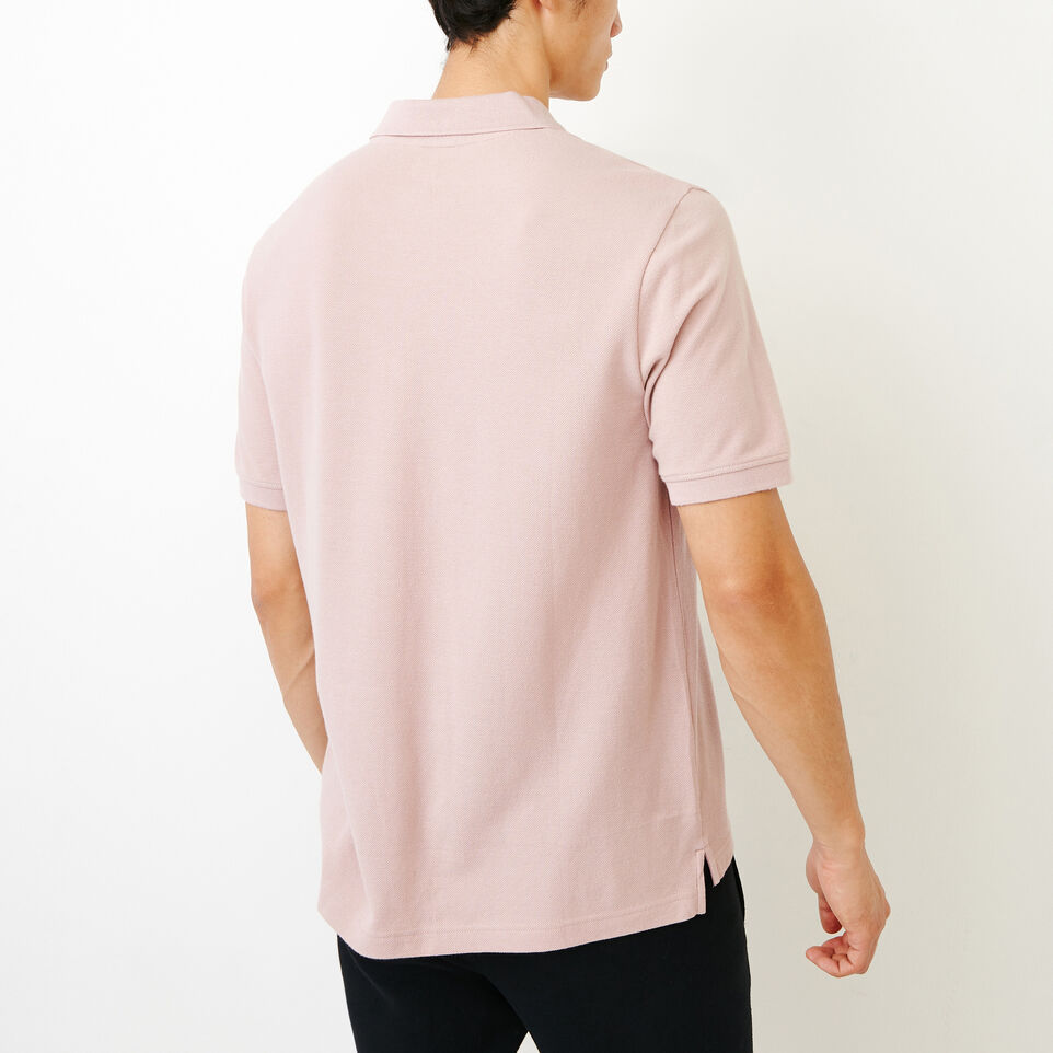 Roots-Men Categories-Heritage Pique Polo-Burnished Lilac-D