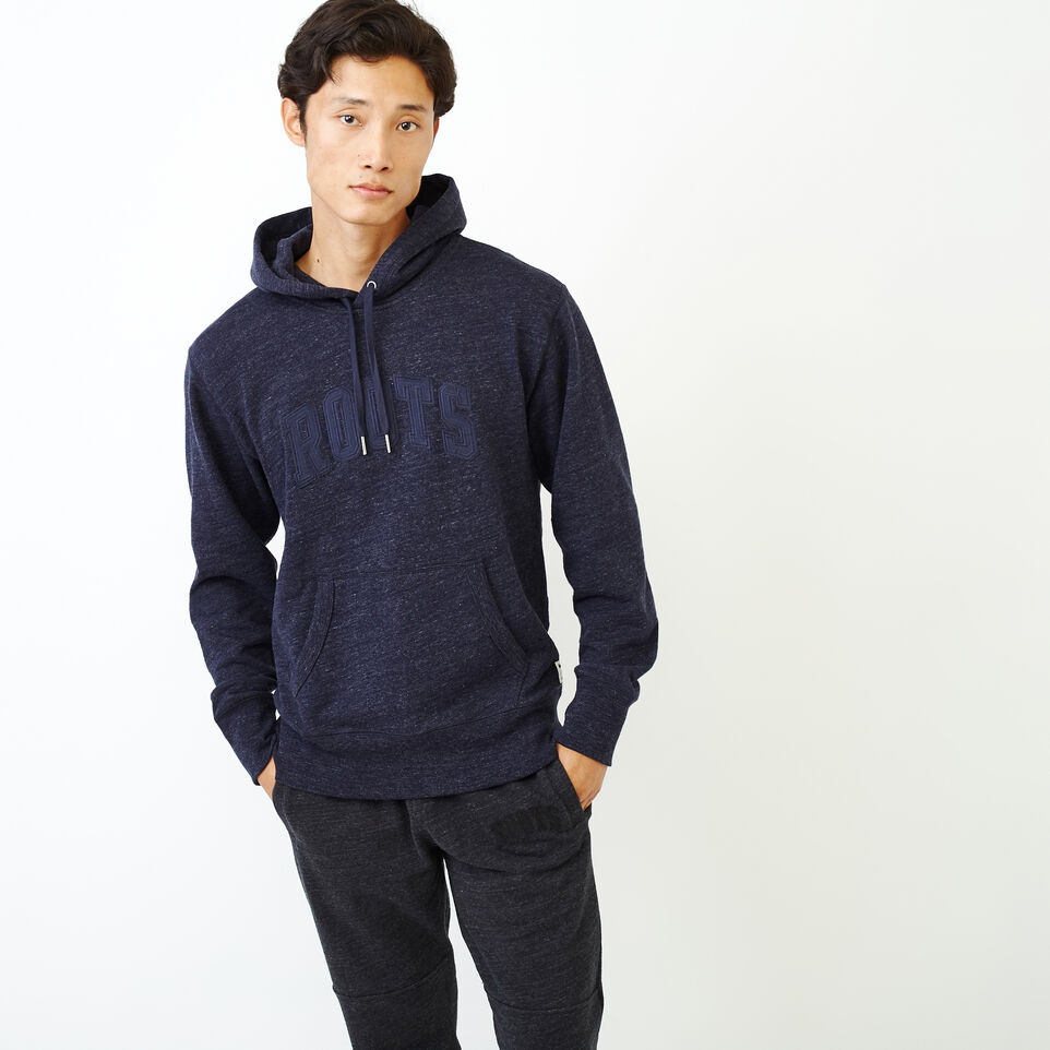 Roots-Men New Arrivals-40s Hoody-Navy Blazer Mix-A